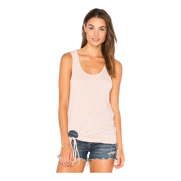 TYLER JACOBS Maryland Tank - 50% poly 38% cotton 12% rayon. Side drawstring detail....
