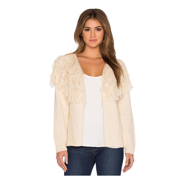 ULLA JOHNSON Astras cardigan - 100% cotton. Dry clean only. Open front. Fringe trim along...