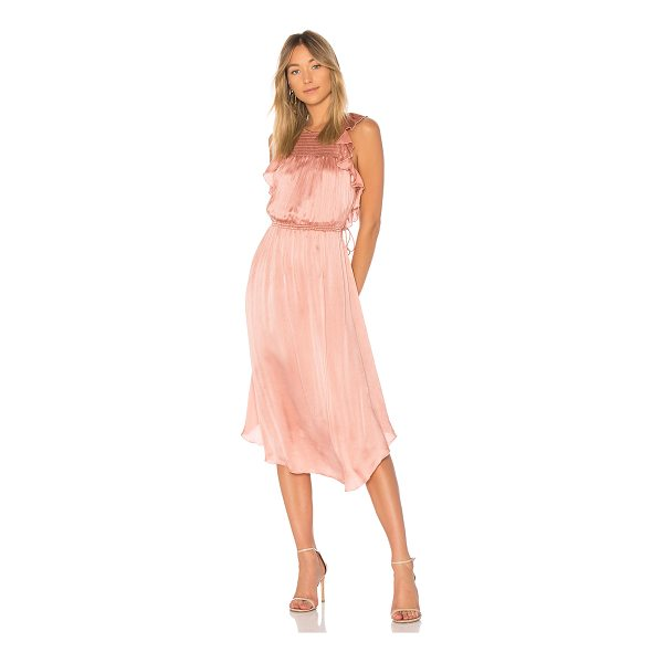 ULLA JOHNSON Eveline Dress - A romantic shade of rose with crinkle silk forms Ulla...