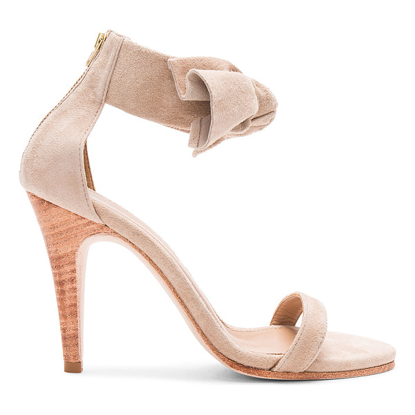 """ULLA JOHNSON Thecia Heel - """"Suede upper with leather sole. Back zip closure. Front bow..."""