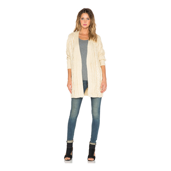 UNIF Reverb cardigan - 100% acrylic. Dry clean only. Open front. Ribbed trim. Side...