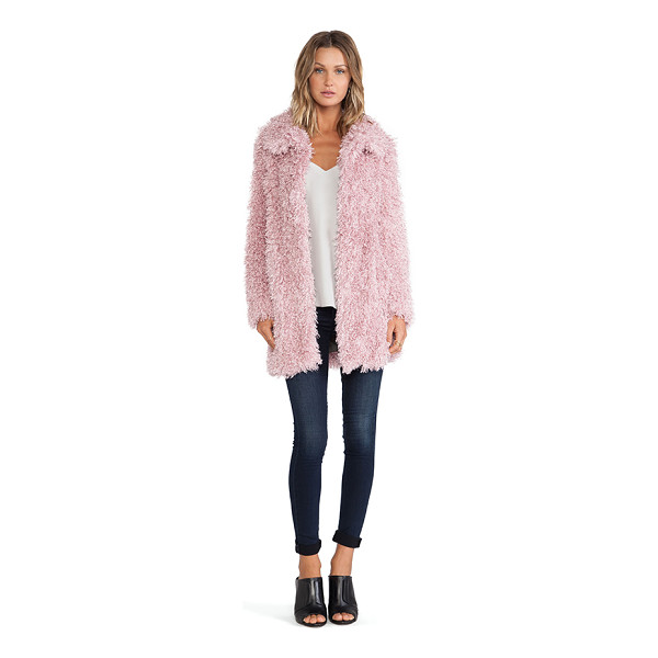 UNREAL FUR De-fur coat - Self: 100% modacrylicLining: 80% acrylic 20% poly. Dry...