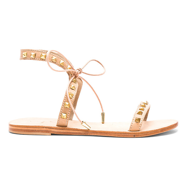 URGE Monte Sandal - Leather upper with leather sole. Pyramid stud accents...