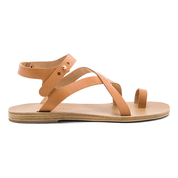 VALIA GABRIEL Arica Sandal - Leather upper and sole. Ankle strap with notch closure.
