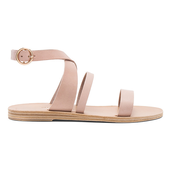 VALIA GABRIEL Nikki Sandal - Leather upper and sole. Ankle strap with buckle closure....