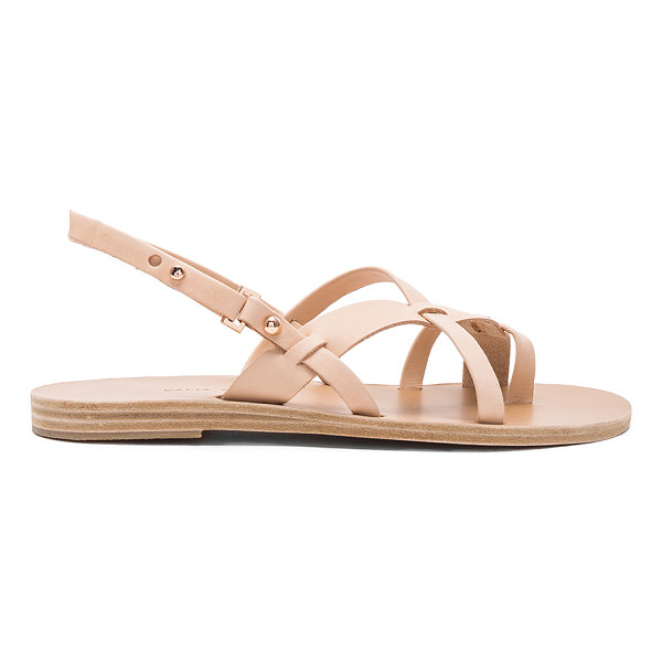 VALIA GABRIEL Wailea Sandal - Leather upper and sole. Ankle strap with notch closure....