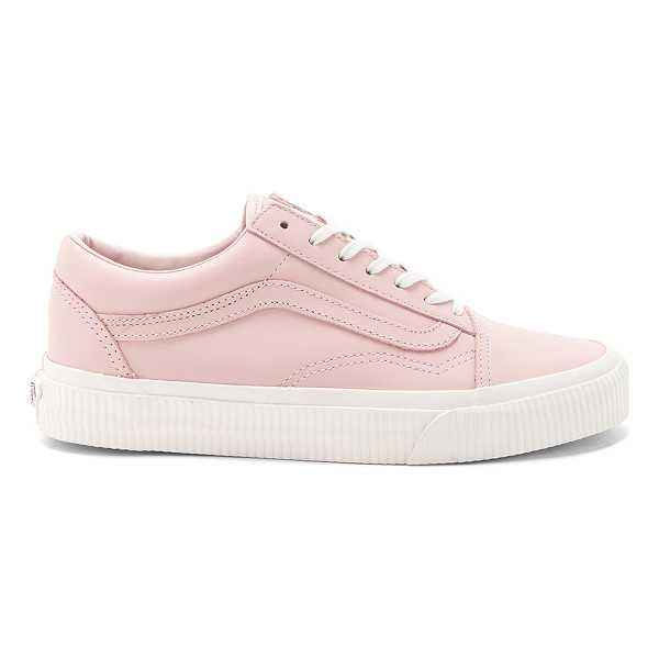VANS Old Skool Sneaker - Leather upper with rubber sole. Lace-up front. Vans ships...
