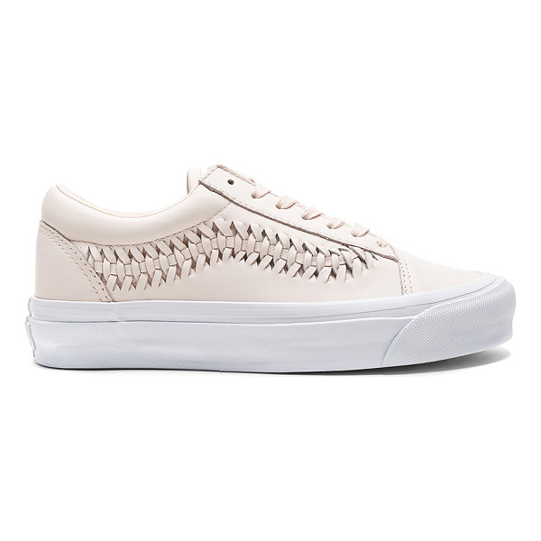 VANS Old Skool Weave DX Sneaker - Leather upper with rubber sole. Lace-up front. Woven...