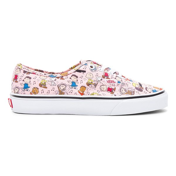 VANS Peanuts Authentic Sneaker - Printed textile upper with rubber sole. Lace-up front. Vans...