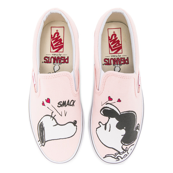 VANS Peanuts Classic Slip-On - Canvas upper with rubber sole. Slip-on styling. Screen...