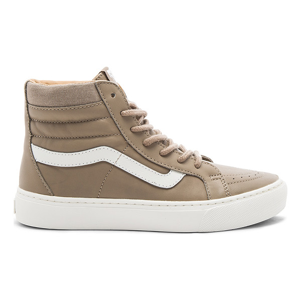 VANS SK8-HI Cup Sneaker - Leather upper with rubber sole. Lace-up front. Canvas...