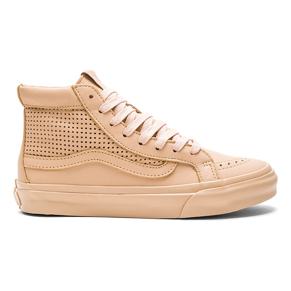 VANS SK8-Hi Slim Cutout DX Sneaker - Leather upper with rubber sole. Lace-up front. Perforated...