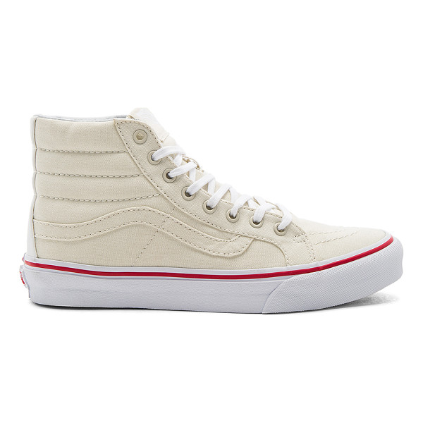 VANS SK8-Hi Slim Sneaker - Canvas upper with rubber sole. Lace-up front. Padded...