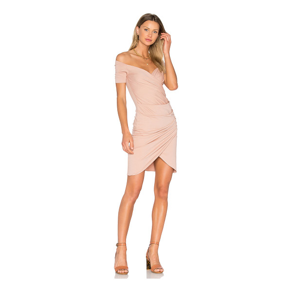 VATANIKA Draped Dress - 100% cotton. Dry clean only. Unlined. Surplice front....