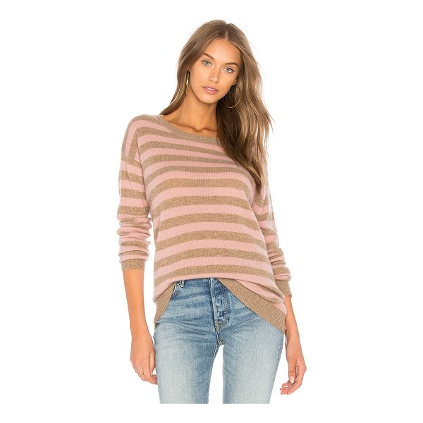 VELVET BY GRAHAM & SPENCER Cath Striped Sweater - Cashmere blend. Dry clean only. Knit fabric. Ribbed trim....