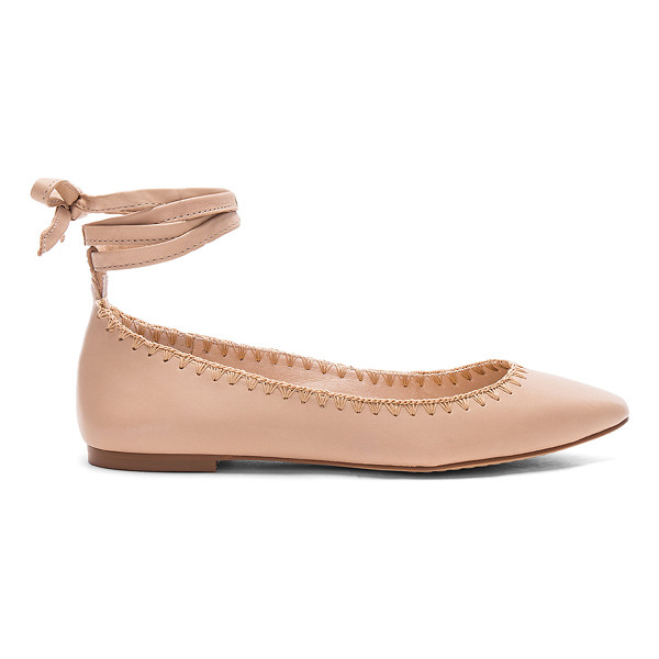 VINCE CAMUTO Braneeda Flat - Leather upper with man made sole. Wrap ankle with tie...