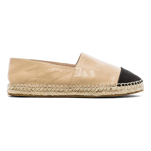 VINCE CAMUTO Dally espadrille - Leather upper with rubber sole. Slip-on styling. Canvas toe...