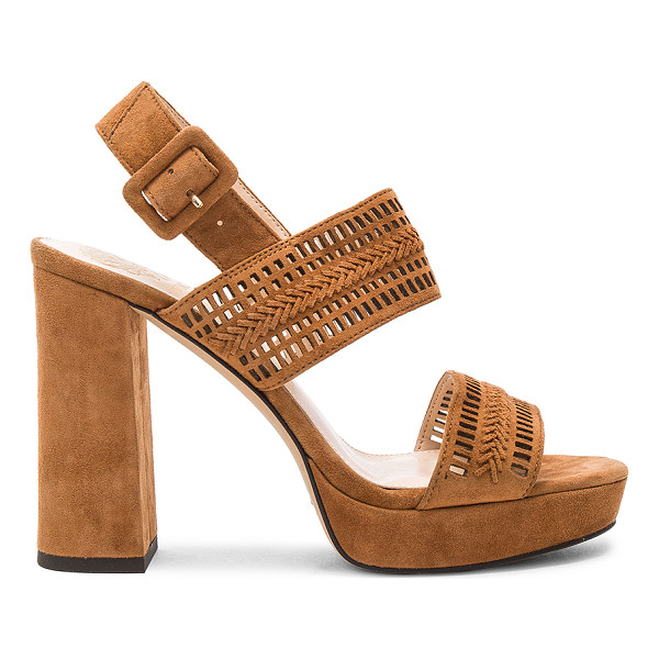 VINCE CAMUTO Jazelle Heel - Suede upper with man made sole. Ankle strap with buckle...