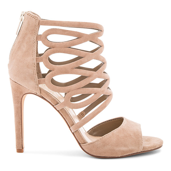 VINCE CAMUTO Kirsi Heels - Suede upper with man made sole. Caged cut-out detail. Back