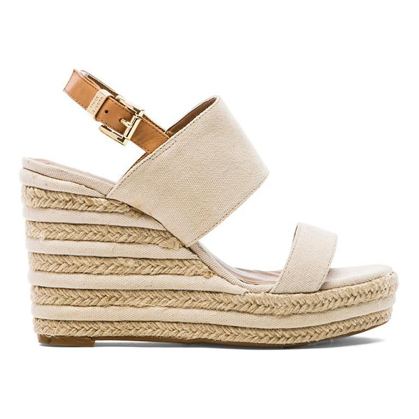 """VINCE CAMUTO Loran wedge - Canvas upper with rubber sole. Wedge measures approx 4"""""""" H...."""