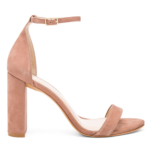 VINCE CAMUTO Mairana Heel - Suede upper with man made sole. Ankle strap with buckle...