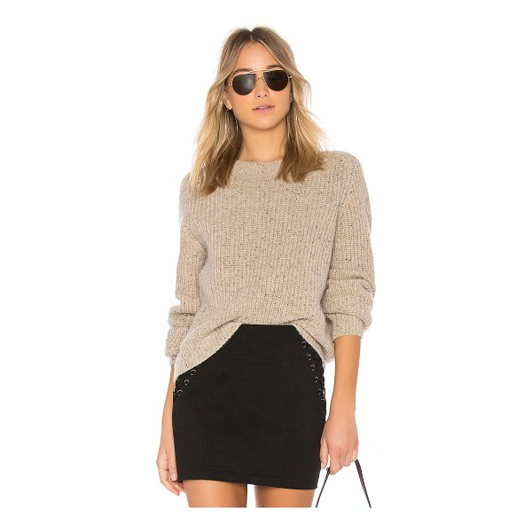 VINCE Crop Saddle Sweater - 100% cashmere. Hand wash cold. Knit fabric. VINCE-WK413....