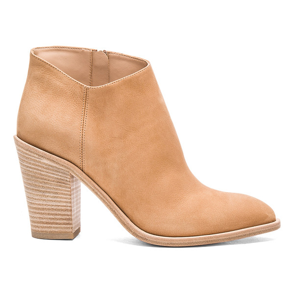 VINCE Easton Bootie - Suede upper with leather sole. Side zip closure....