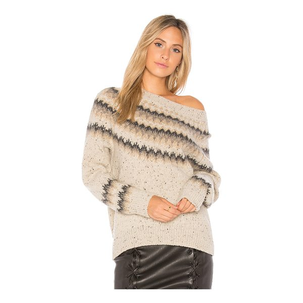 VINCE Fair Isle Sweater - Cashmere blend. Dry clean only. Rib knit edges....