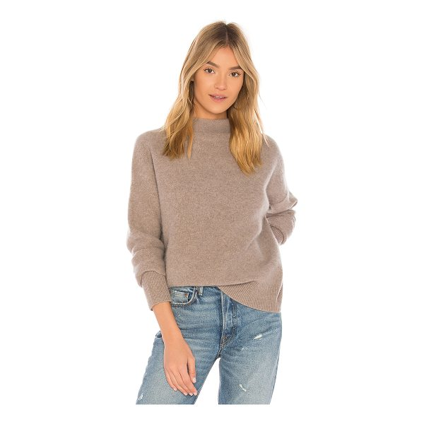 VINCE Funnel Pullover - 100% cashmere. Dry clean only. Knit fabric. Rib knit trim....
