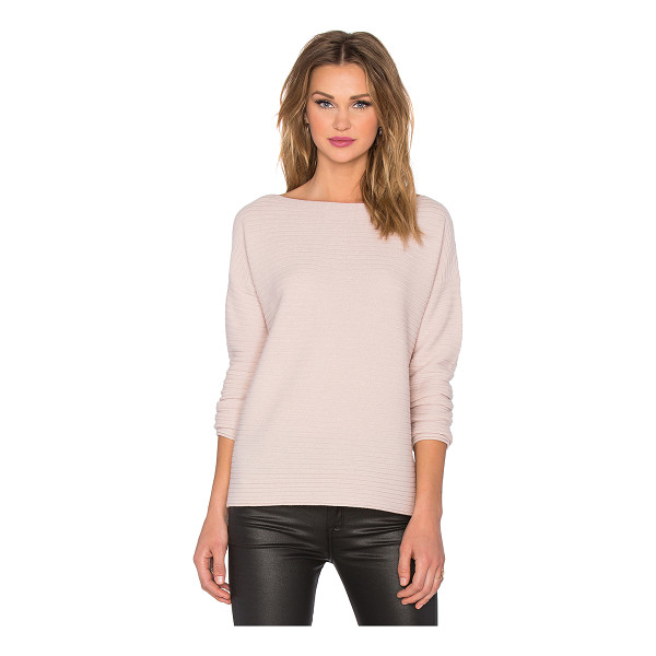 VINCE Horizontal rib boatneck sweater - 100% cashmere. Hand wash cold. Raw cut edges. VINCE-WK327....