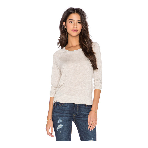 VINCE Long sleeve space dye tee - 100% viscose. Hand wash cold. Slub knit. VINCE-WS808. V3058...