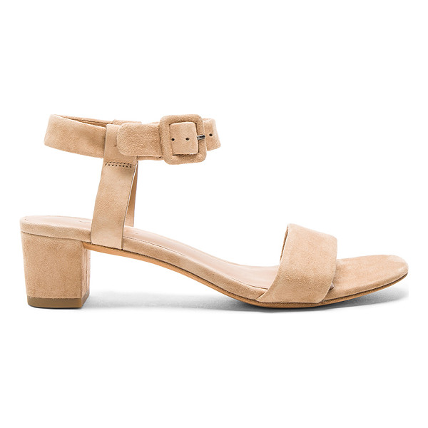 VINCE Rena Sandal - Suede upper with leather sole. Ankle strap with buckle...