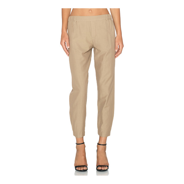 """VINCE Seam twill pant - 56% cotton 44% curpo. Dry clean only. 17"""""""" at the knee..."""