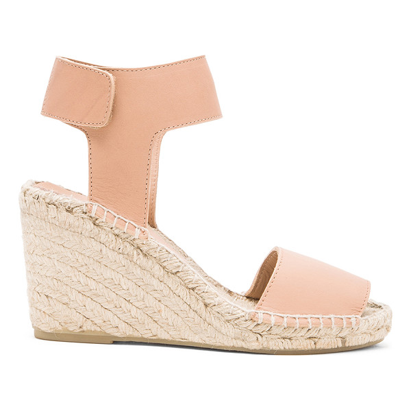 VINCE Sophie sandal - Leather upper with jute and rubber sole. Wedge measures...