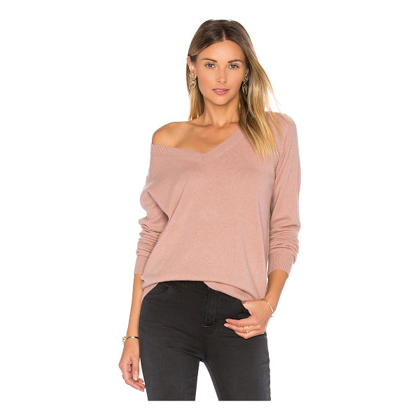 VINCE Vee Sweater - 100% cashmere. Hand wash cold. Ribbed trim. VINCE-WK370....