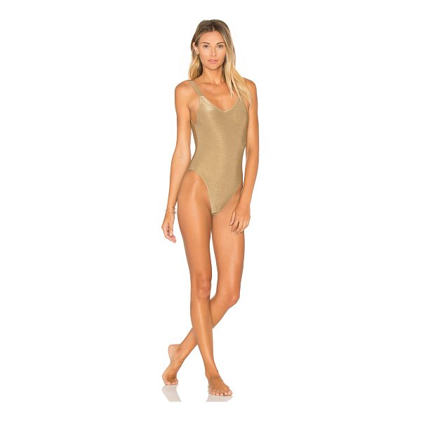 VITAMIN A Leah One Piece - Self: 79% nylon 14% metalized poly 7% spandexLining 91%...