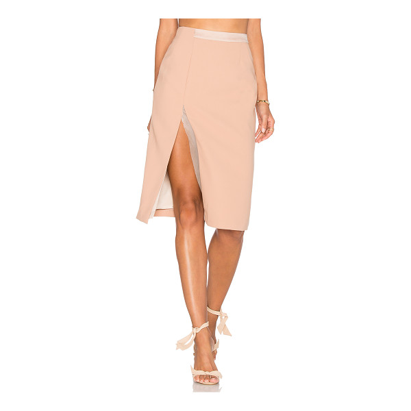 VIVIAN CHAN Alina Skirt - Poly blend. Dry clean only. Fully lined. Front slit. Double...