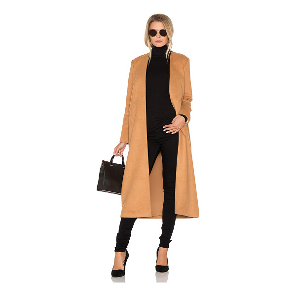 VIVIAN CHAN Cuttrell Coat - Poly blend. Dry clean only. Open front. Front slit pockets....