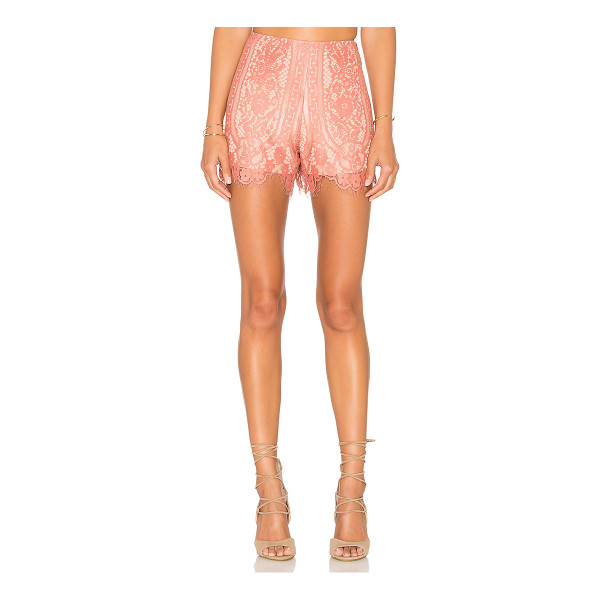 WAYF Dew Drop Short - Self: 60% cotton 40% nylonLining: 100% poly. Dry clean...