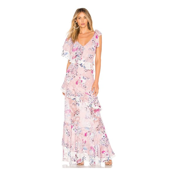 WE ARE KINDRED Alessandra Ruffle Maxi - Self, Lining, Trim: 100% poly. Hand wash cold. Fully lined....