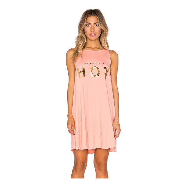 WILDFOX Cassidy dress - 100% cotton. Hand wash cold. Unlined. Screen print...