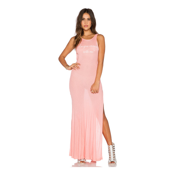 WILDFOX Come with me madlvies maxi dress - 47% rayon 47% poly 6% spandex. Hand wash cold. Front...