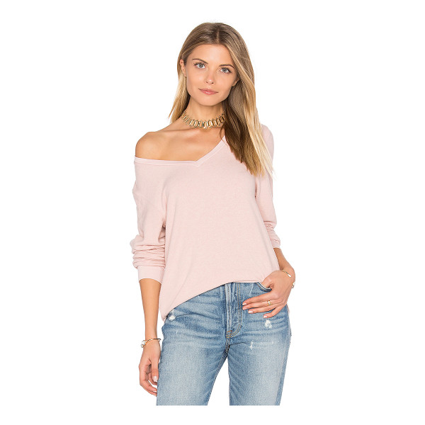 WILDFOX Long Sleeve Top - 47% poly 47% rayon 6% spandex. Hand wash cold. Banded...