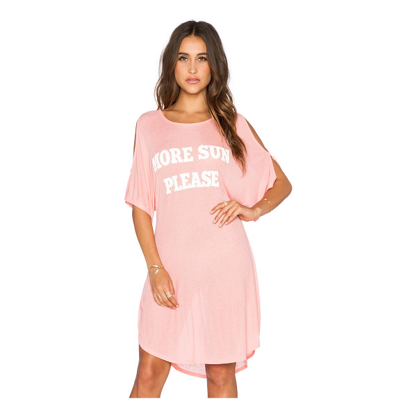 WILDFOX More sun please tunic - 47% rayon 47% poly 6% spandex. Hand wash cold. Front...