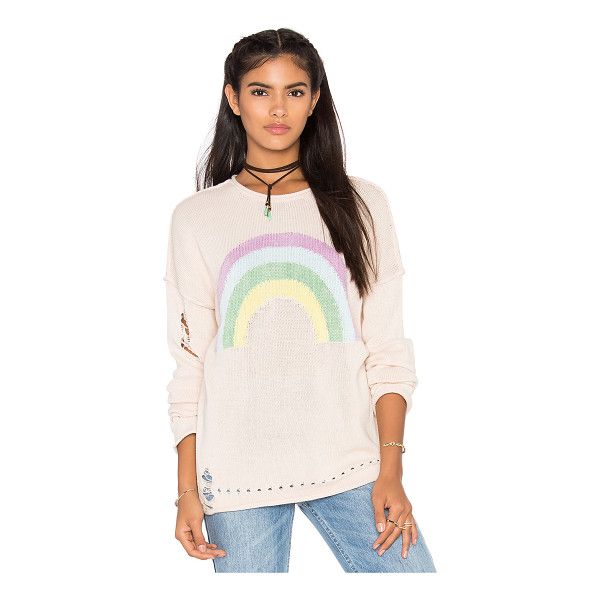 WILDFOX Sky high sweater - 100% cotton. Dry clean only. Eyelet detail. WILD-WK312....