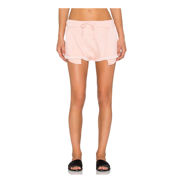 WILDFOX Solid shorts - 70% cotton 30% poly. Elasticized drawstring waist. Side...