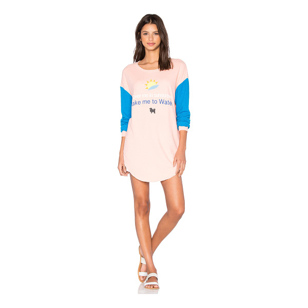 WILDFOX Sunscreen Tee - 53% cotton 31% poly 16% rayon. Front graphic print....