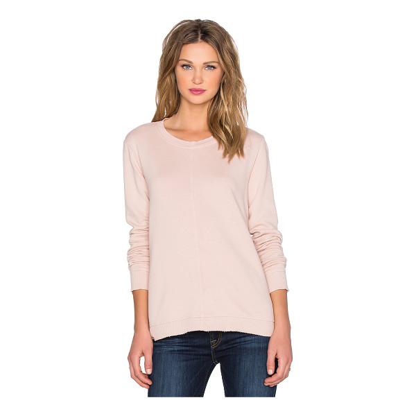 WILT French terry trapeze sweatshirt - 100% cotton. Contrast ribbed trim. Raw cut hem. WILT-WO100....