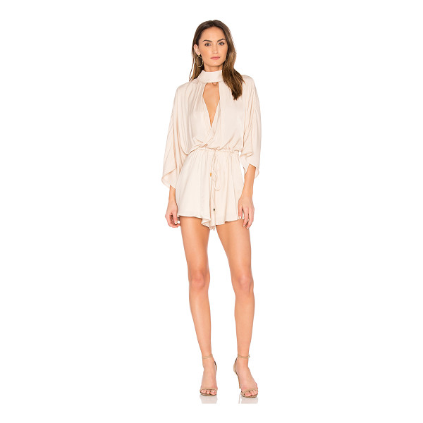 "WINONA AUSTRALIA Adele Playsuit - ""Viscose blend. Hand wash cold. Surplice neckline with..."