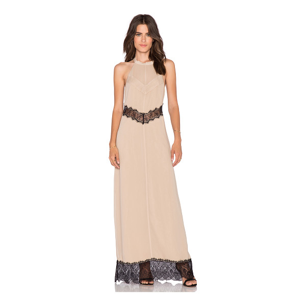 WINSTON WHITE Sachi maxi dress - Silk blend. Partially lined. Cut-out detail with lace...